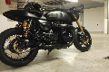 Impianto completo 2in2 Hot Rod nero - Triumph Thruxton 1200 R